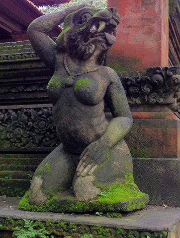 Indonesian demon statue