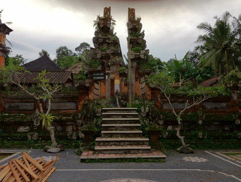 indonesian house compound entrance