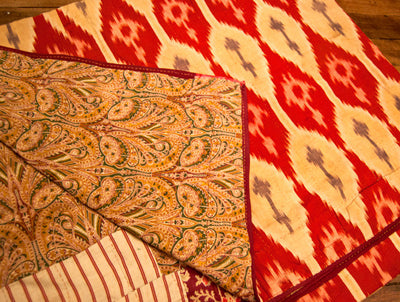 Uzbek Ikat Throw or Bedspread