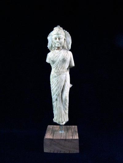 White Marble Antique Lakshmi Statu