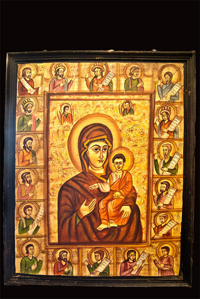 Mary with Christ & Saints Painting