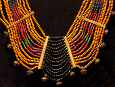 Naga Beaded Tribal Necklace, Konyak Naga Necklace