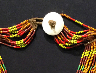 Tribal beaded necklace, naga necklace, naga konyak necklace