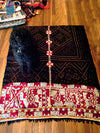 Vintage Tribal Rabari Embroidered Wedding Shawl (Ludhi