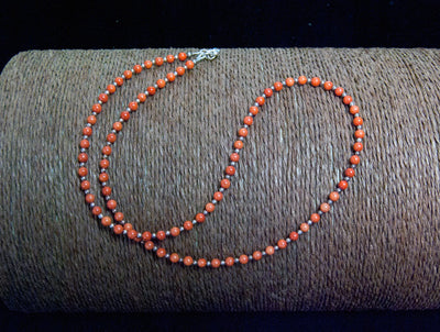 red coral fine jewellery - necklace - red coral and silver