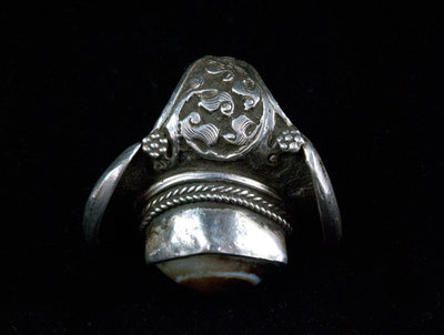 Rare Antique Tibetan Saddle Ring