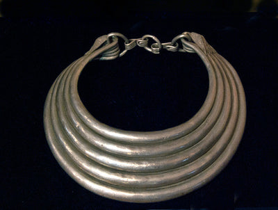 Hmong Solid Silver Antique Five Ring Torc