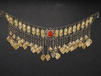 Tekke Turkoman Gold and Silver Necklace