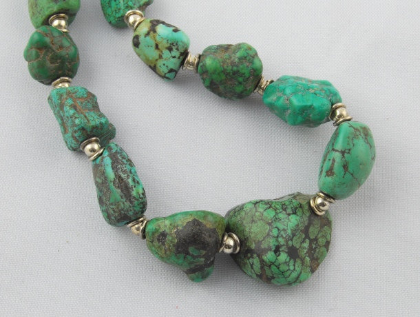 Antique Natural Tibetan Turquoise Necklace