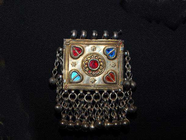 Tribal Uzbeki Pendant in Silver and Gold