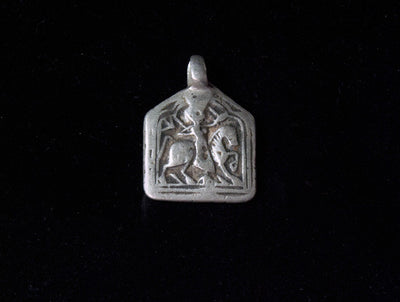 Antique Tribal Silver Amulet Pendants