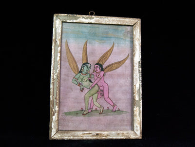 Apsara Erotic Antique Watercolour Painting