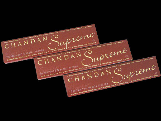 Chandan Supreme Sandalwood incense, the best sandalwood marsala incense in the world