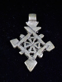 Ethiopian Cross pendant, lost wax casting, hand made, tribal, gypsy, African jewellery, boho, christian, bohemian