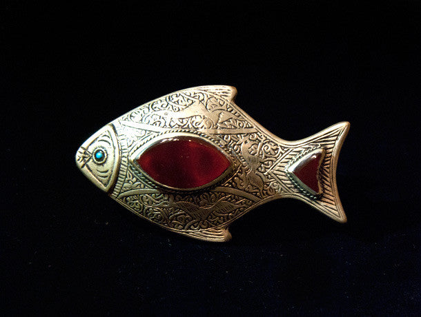 Afghani Gillet and Carnelian Fish Ring