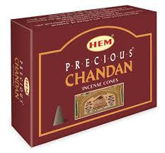 Precious Chandan Hem incense cones pack of ten