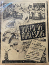 "Vintage burlesque movie styling with our movie poster from the 1946  movie ""Queen Of Burlesque"" with Evelyn Ankers"