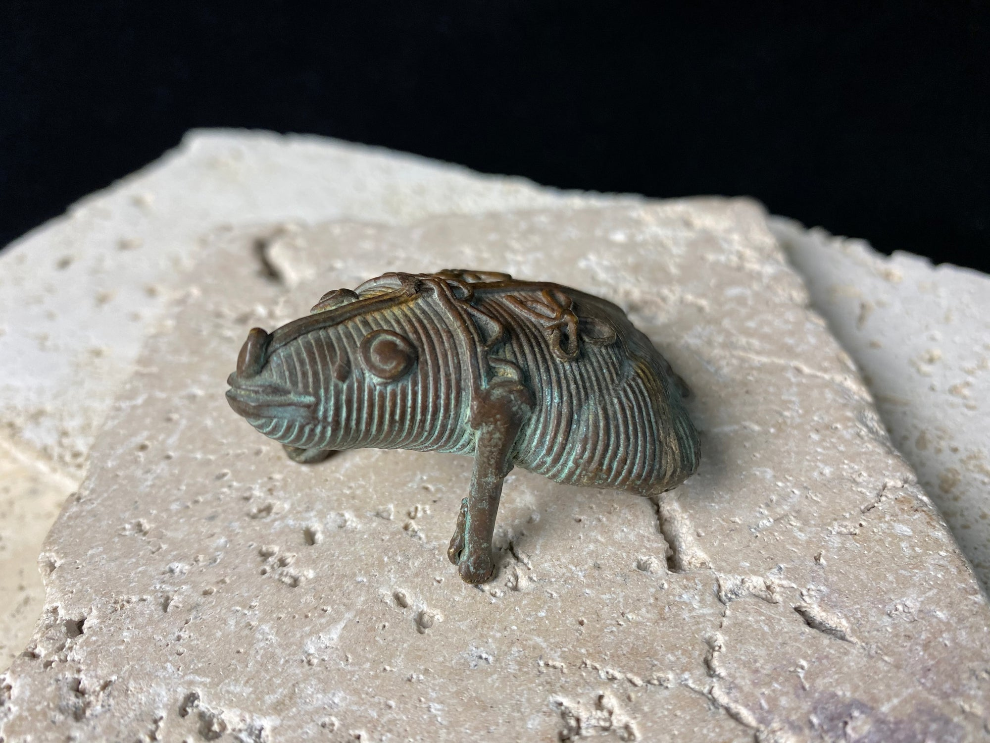 Antique Miniature Copper Bronze Frog