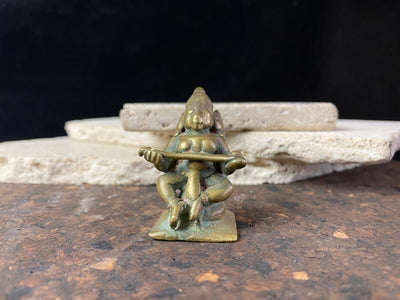 Antique Bronze Miniature Annapurna Statue