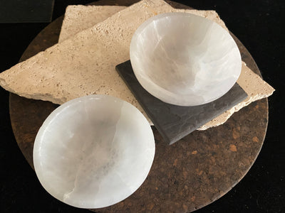Selenite crystal handcarved bowls. Perfect for home decor or for holding your crystal collection