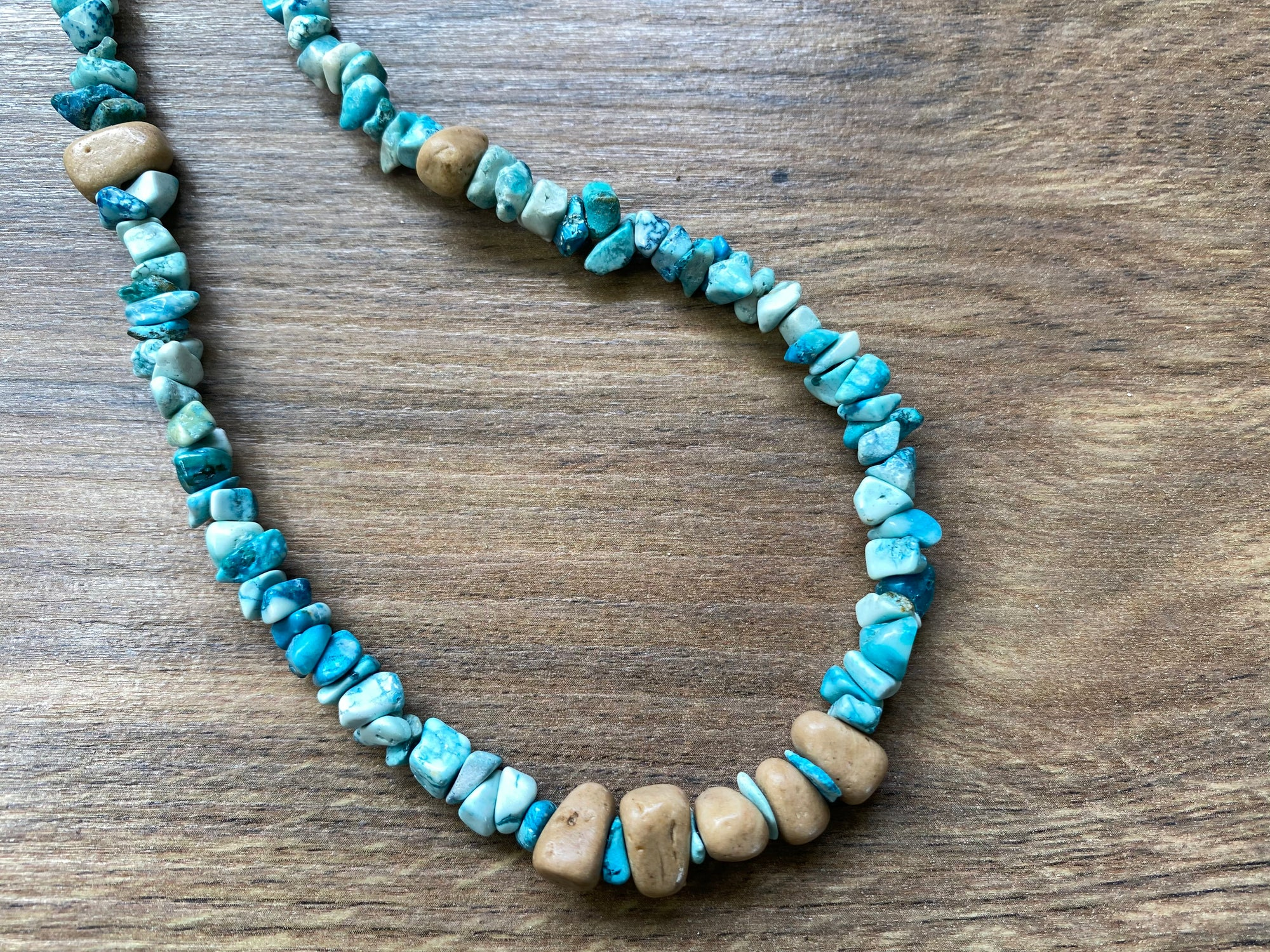 Turquoise Boho Chip Necklace