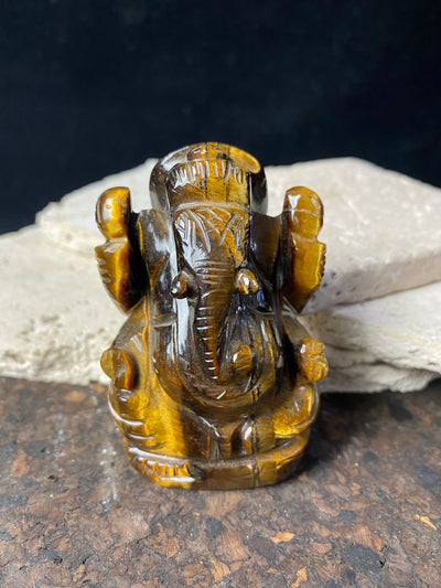 Tigers Eye Ganesh Statue