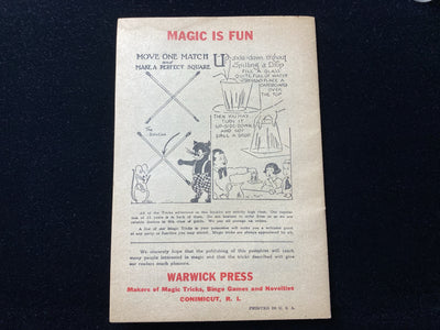 original 16 page catalog for Warwick Press, purveyors of magic, novelty, bingo games and personalised gift items
