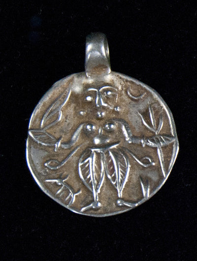 Antique Silver Kali Amulet Pendants