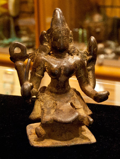 Antique 18th Century Bronze Kali Statue