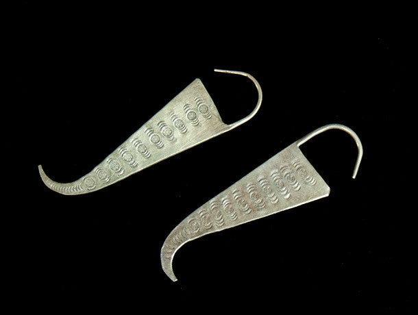 Spirit Lock Karen Hill Tribe Silver Earrings