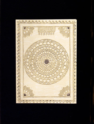 Indian Textile Greeting Cards Stationary