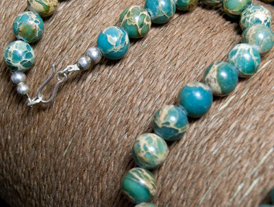 Ocean jasper necklace - women's jewelry