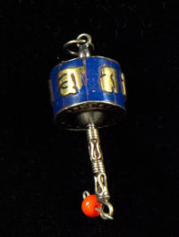 Miniature Prayer Wheel Charm Pendant