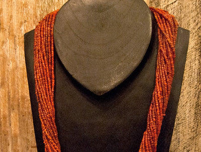 Multi Strand Tribal Bead Necklace
