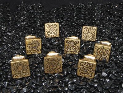 Set of Eight Auspicious Symbols as Seals (Chops)