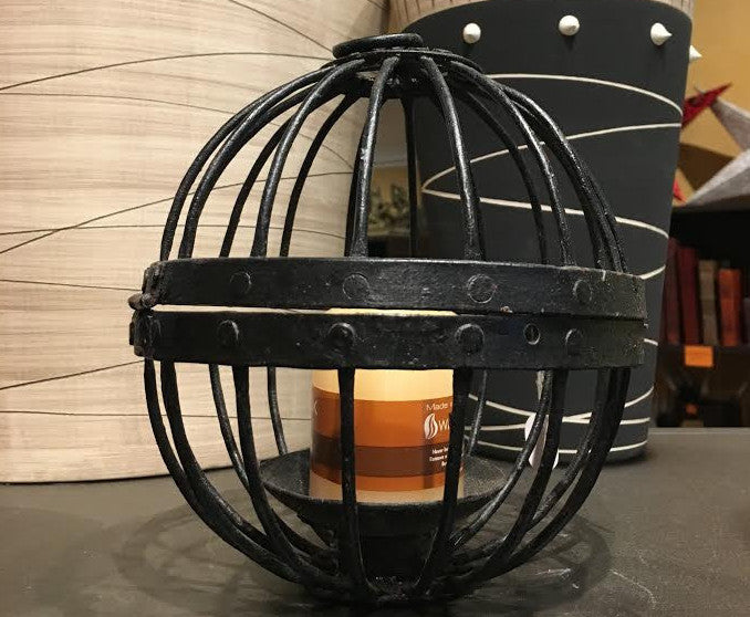 Black Iron Candle Lantern India