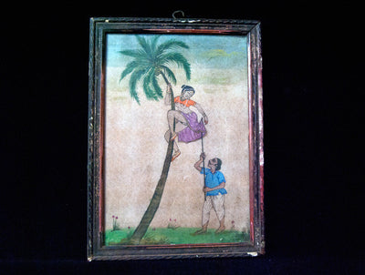 Erotic Antique Watercolour Painting