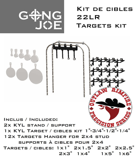 22LR Outlaw Rimfire Precision Series Kit cibles / Targets