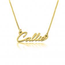 Tiny Cursive Necklace