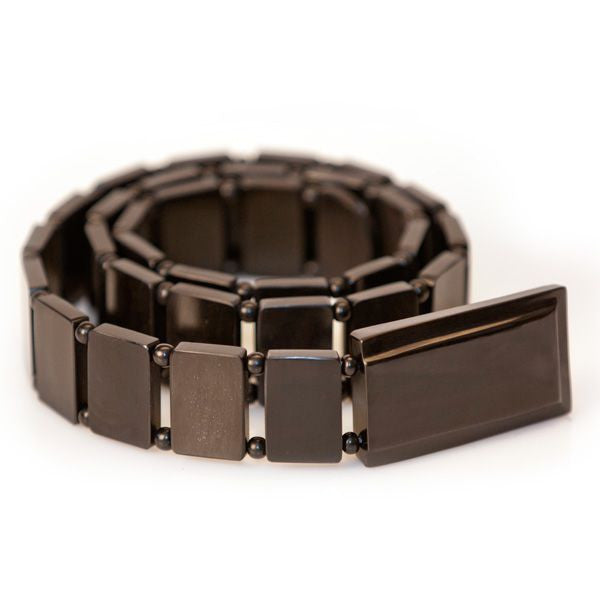 Carabao Black Polished Belt