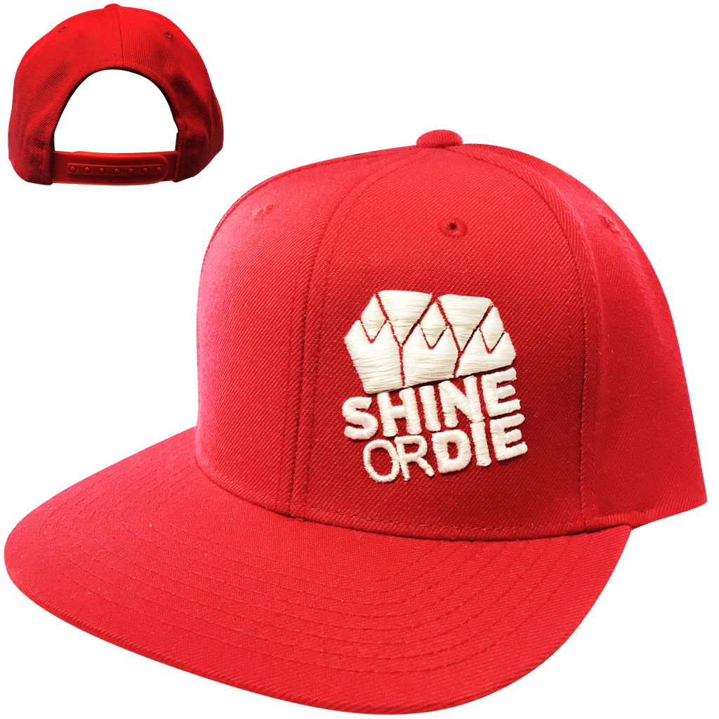 White on Red Snapback