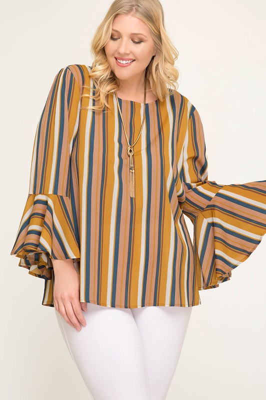 Megan Striped Top