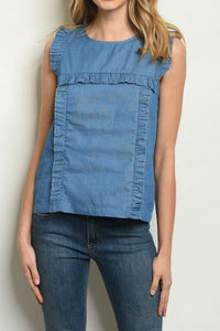 Lilly Denim Top