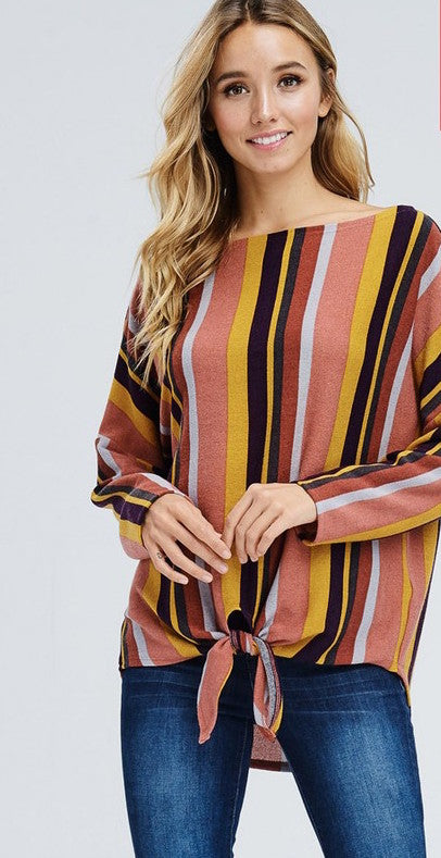 Emberly Striped Top