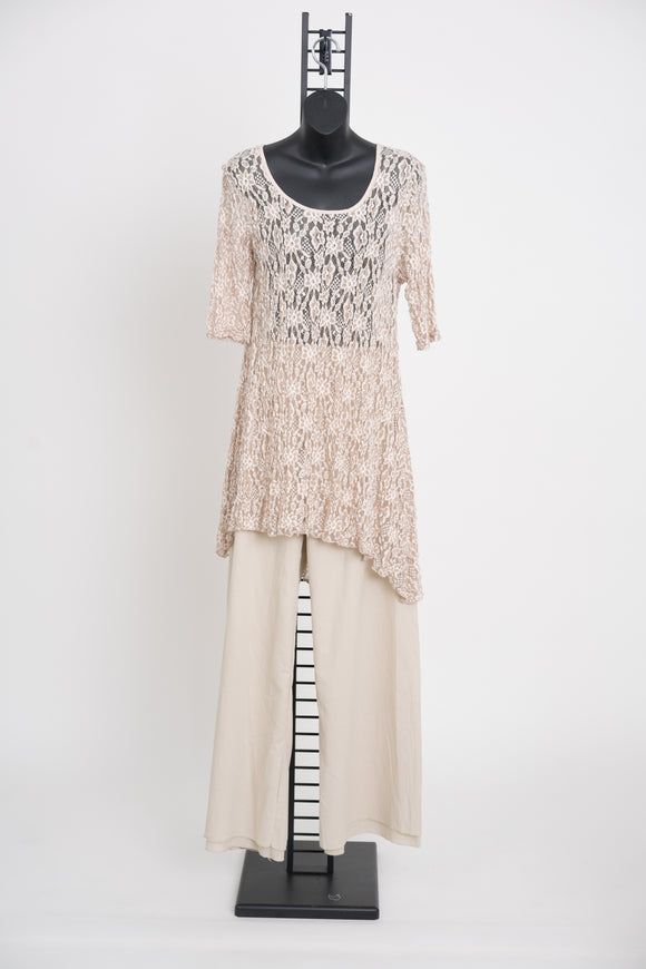 Wendy Tunic Dress in Champagne
