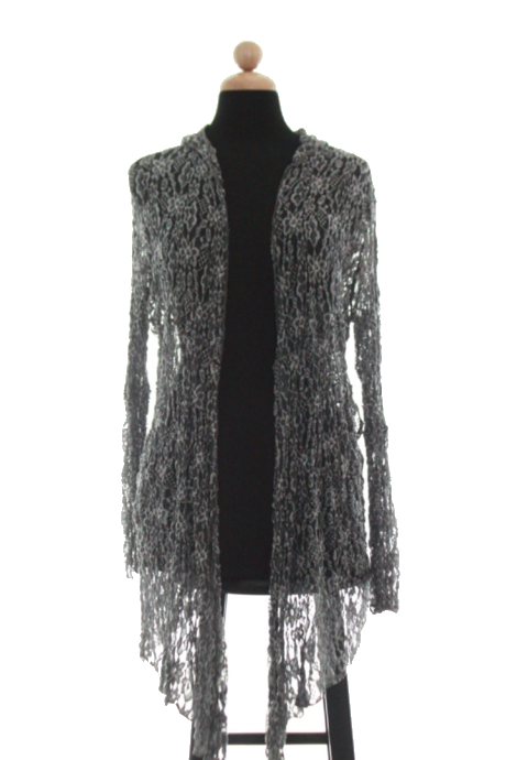 Gray Pucker Lace Jacket