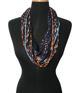 Shreds Scarf in Navy