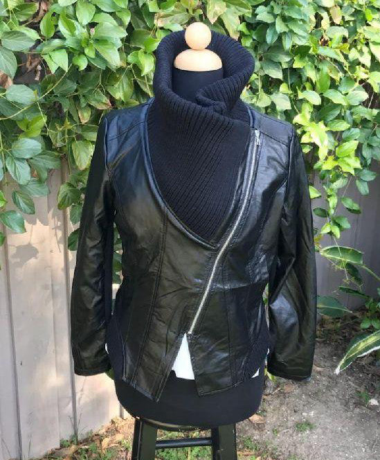 Soft Cowl Neck Bomber Jacket
