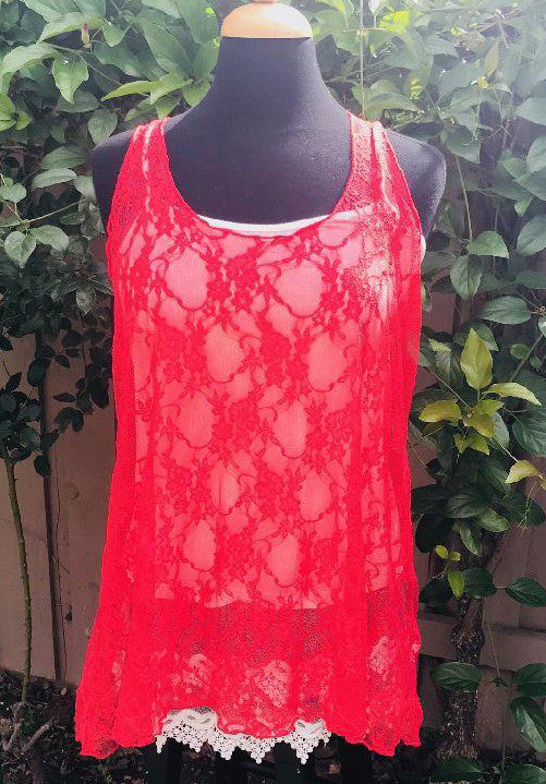 Cory Lace Scoop Neck Top