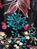 Embroidered Jacket in Aqua ShopGerie.com